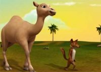 Camel and Fox Moral Story - Never Act Selfish with Friends Stories fr Kids