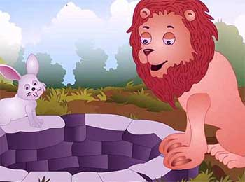 Clever Rabbit and Lion Story - Best Famous Panchatantra Stories for Kids