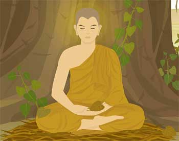 Power of Silence Story - Buddha and Philosopher Spiritual Enlightenment