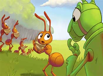 Aesop Fables - Ant and Grasshopper Story