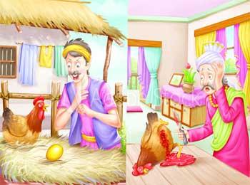 Aesop Fables - Farmer and Golden Egg Story