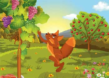 Short Stories for Kids - Fox and Grapes Story