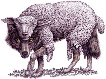 Think Wisely - Stories with Moral, Hungry Fox n Wolf in Sheep Clothing