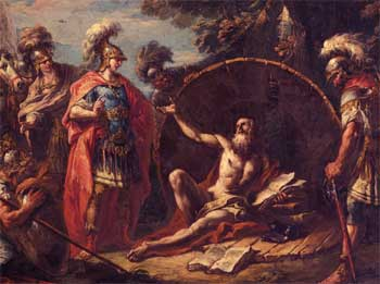 Alexander and Greek Mystic Diogenes Story about Life Desires