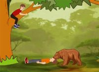 Two Friends and Bear Short Moral Story for Kids
