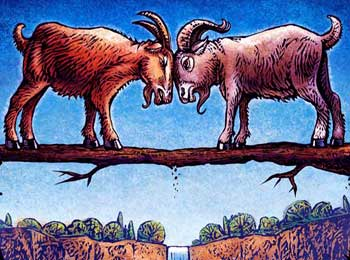 Two Goat on Bridge Story