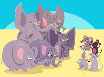 Big Elephant and Little Mouse Story - Be Kind Moral Panchtantra Story